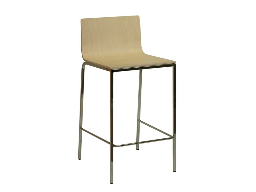 Wooden counter stool SGAB-SAIL-V - Vela Arredamenti