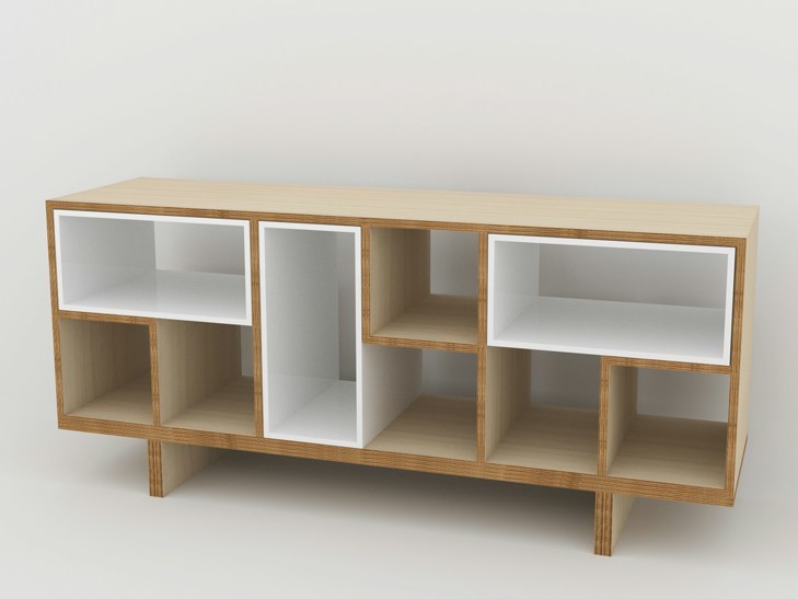 Double-sided wooden sideboard MÉLI-MÉLO | Sideboard - MALHERBE EDITION