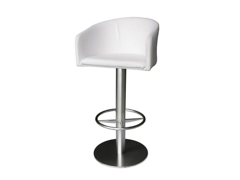 Swivel upholstered counter stool SGAB-ZEUS-1 - Vela Arredamenti