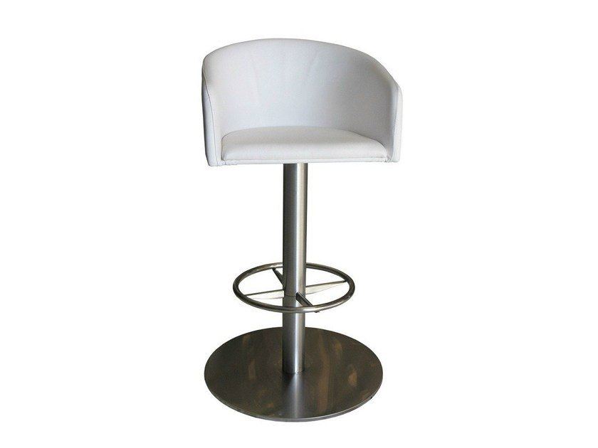 Swivel upholstered counter stool SGAB-ZEUS-2 - Vela Arredamenti