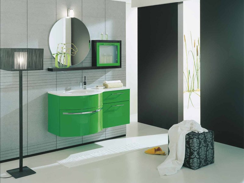 Lacquered wall-mounted vanity unit GENIUS G200 - LEGNOBAGNO
