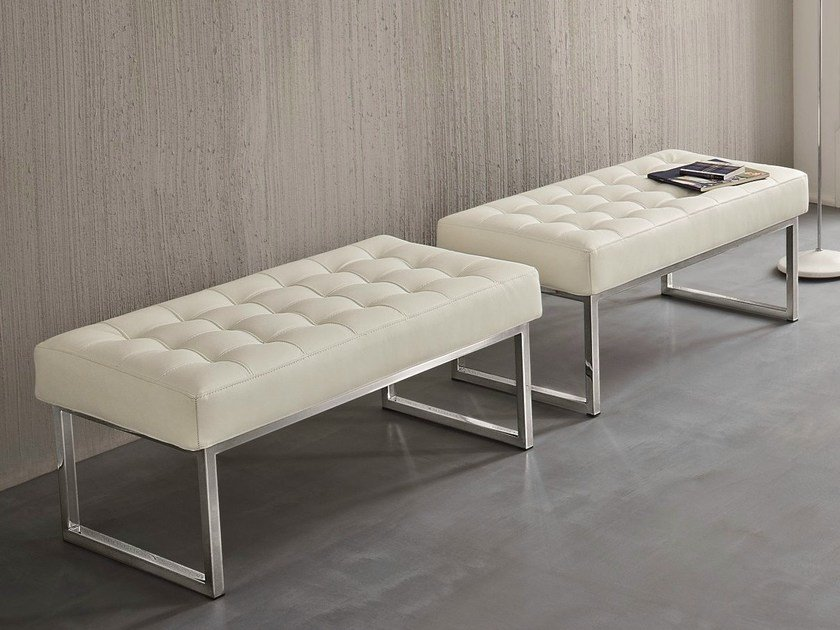 Upholstered leather bench STYLE - Dall'Agnese