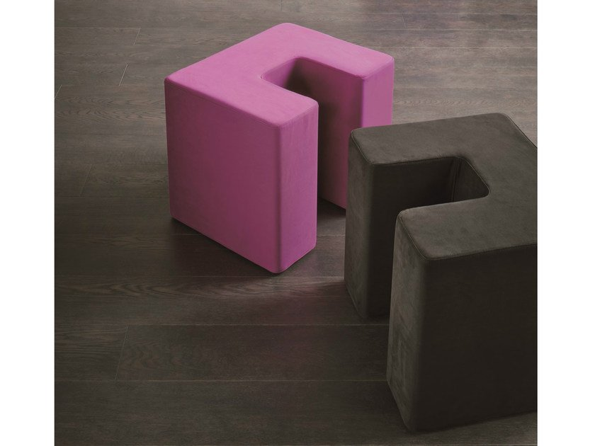 Upholstered fabric pouf SQUARE TWIN - Dall'Agnese