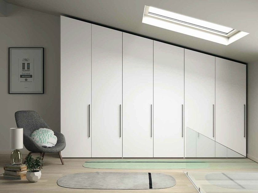 Lacquered wardrobe EMOTION MANSARDATO | Lacquered wardrobe by Dall'Agnese