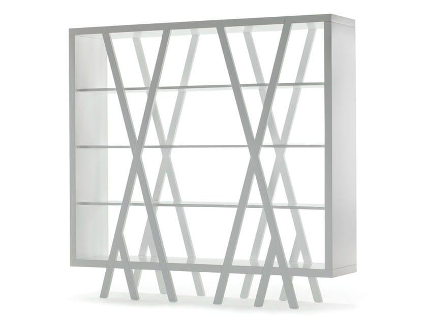 Open lacquered bookcase PEP'S - 01 - prostoria Ltd