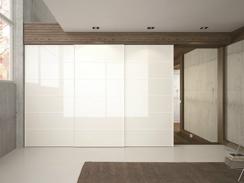 Glass wardrobe with sliding doors EMOTION SCORREVOLE TELAIO D - Dall'Agnese