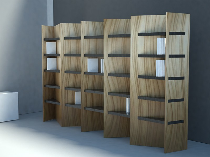 Double-sided bookcase SPICA | Double-sided bookcase - Zuri Design