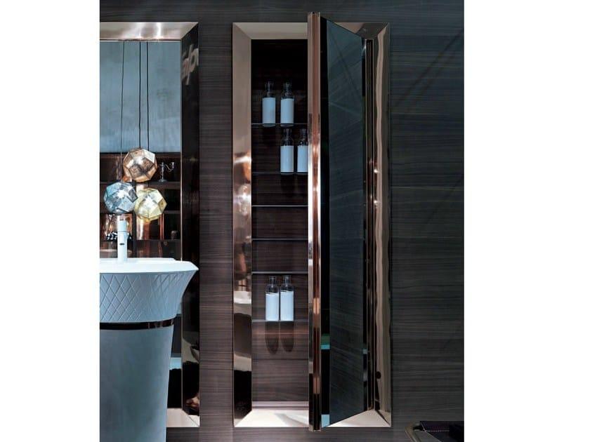 Wall-mounted bathroom mirror with cabinet GEORGE | Mirror - FALPER