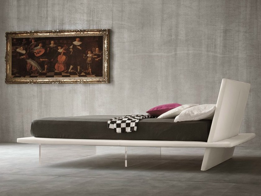 Upholstered fabric double bed EGO - Dall'Agnese