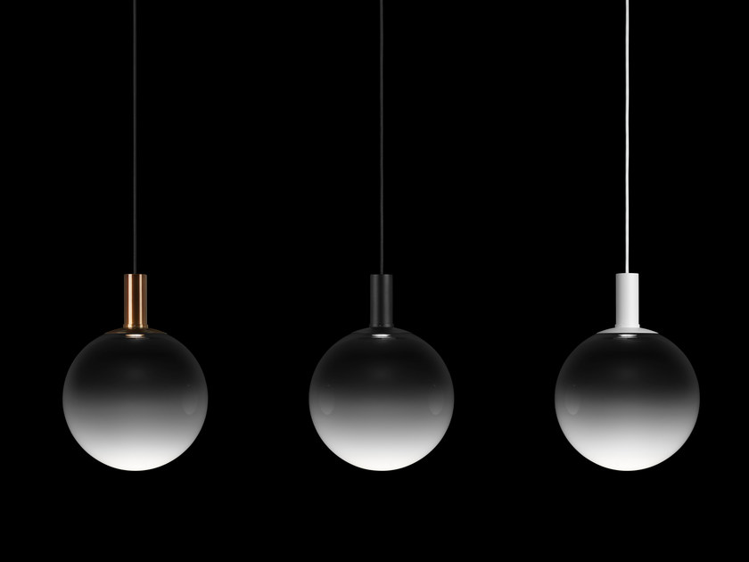 Steel pendant lamp FOG - ZERO