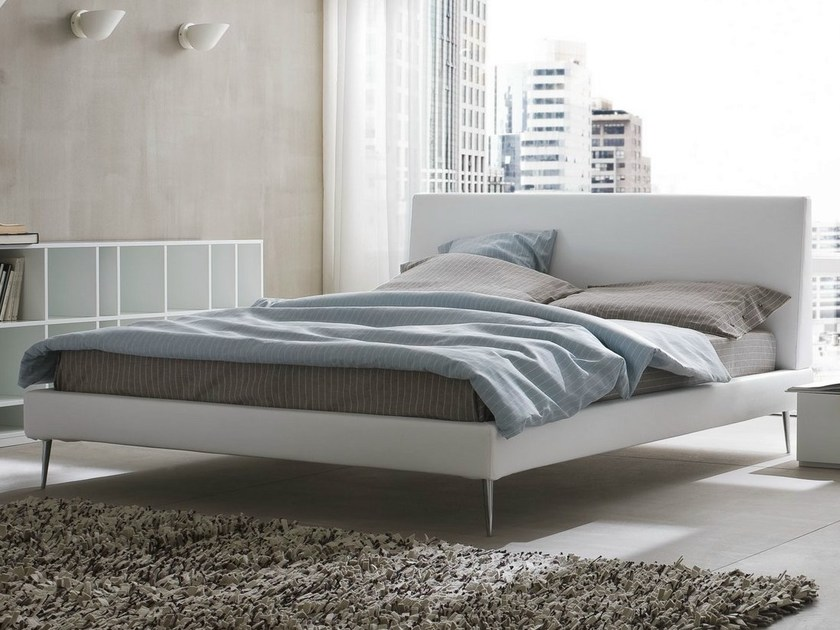 Upholstered fabric double bed SYSTEM - Dall'Agnese