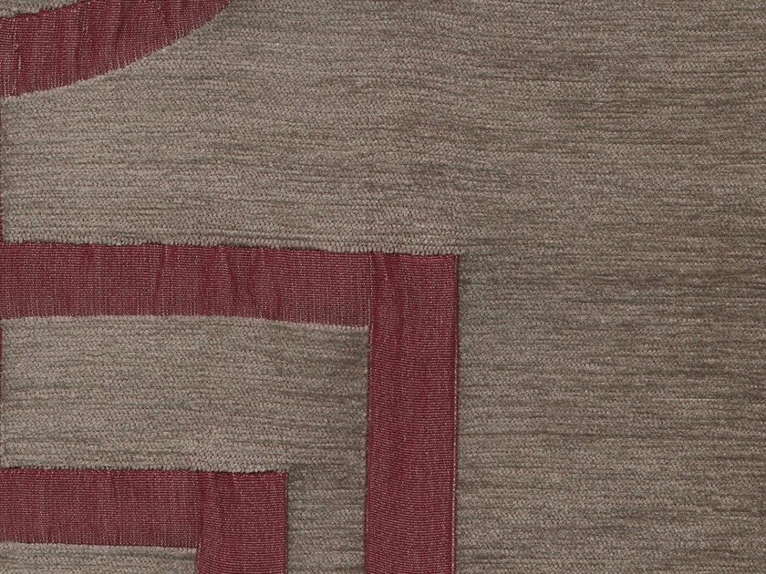 Viscose and cotton fabric with graphic pattern VELVET SQUARE - KOHRO
