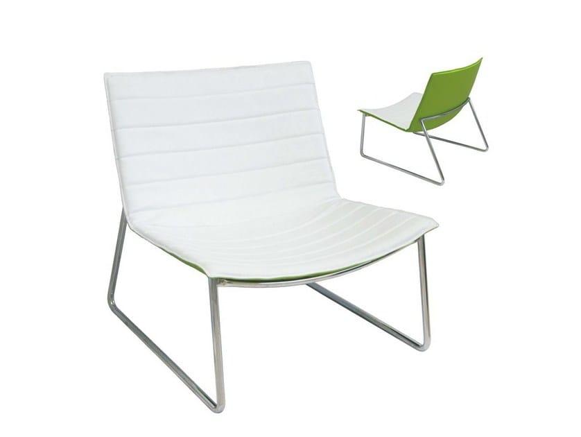 Upholstered imitation leather garden armchair COMFORT-F - Vela Arredamenti