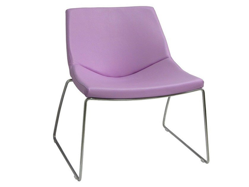 Leather garden armchair with fire retardant padding PL-ROMA-F - Vela Arredamenti