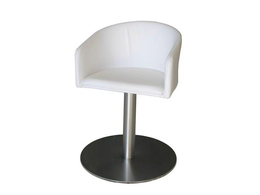 Swivel upholstered chair PL-ZEUS-X - Vela Arredamenti