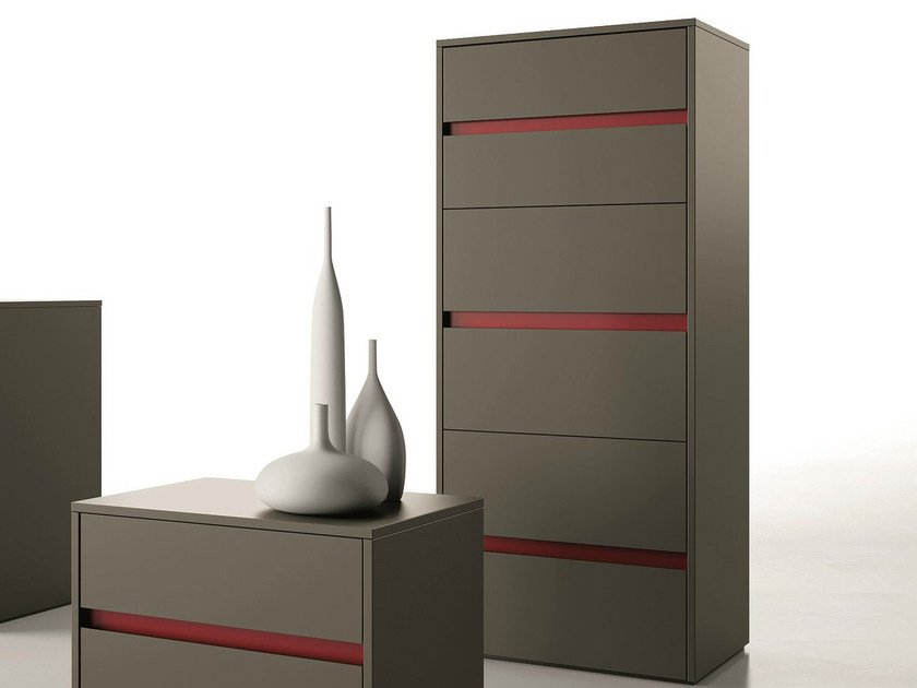 Lacquered chest of drawers ZIP | Chest of drawers - Dall'Agnese