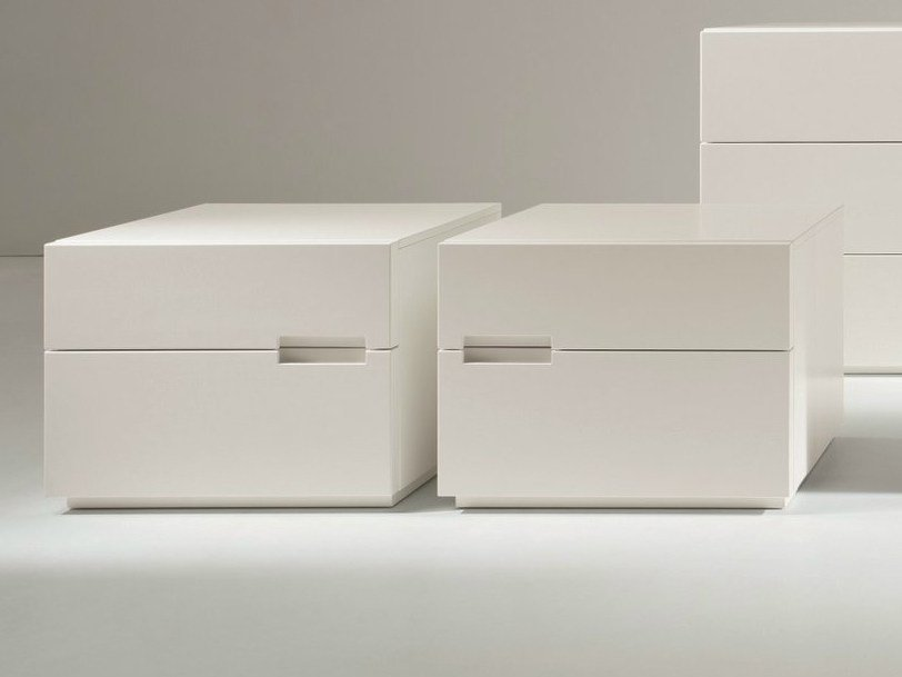 Lacquered bedside table with drawers ASOLA | Lacquered bedside table - Dall'Agnese