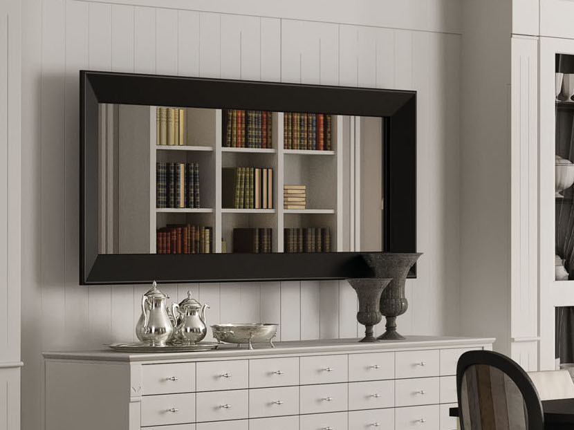 Rectangular framed mirror WALLCOT | Wall-mounted mirror - Minacciolo