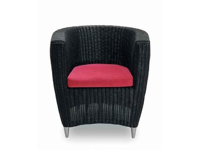 Woven wicker armchair YORK | Armchair by Minacciolo