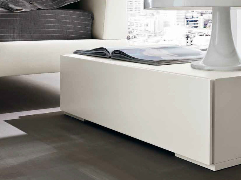 Lacquered bedside table with drawers PARIS | Bedside table - Dall'Agnese