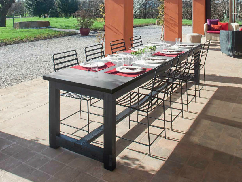Rectangular solid wood table FRAME | Rectangular table - Minacciolo