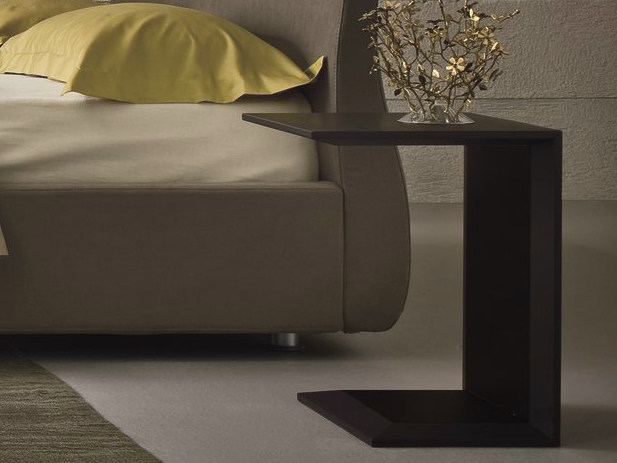Tanned leather bedside table SIMPLY - Dall'Agnese
