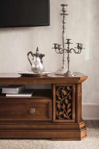 Parete attrezzata componibile in noce con porta tv tiffany parete attrezzata in noce dall agnese - Dall agnese mobili classici ...