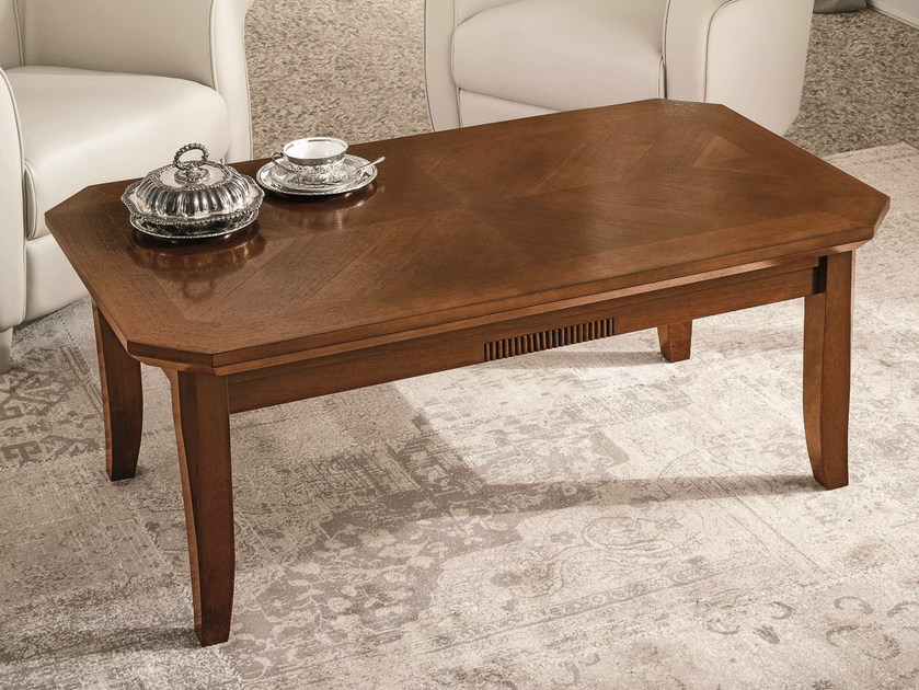 Low walnut coffee table for living room TIFFANY | Walnut coffee table by Dall'Agnese
