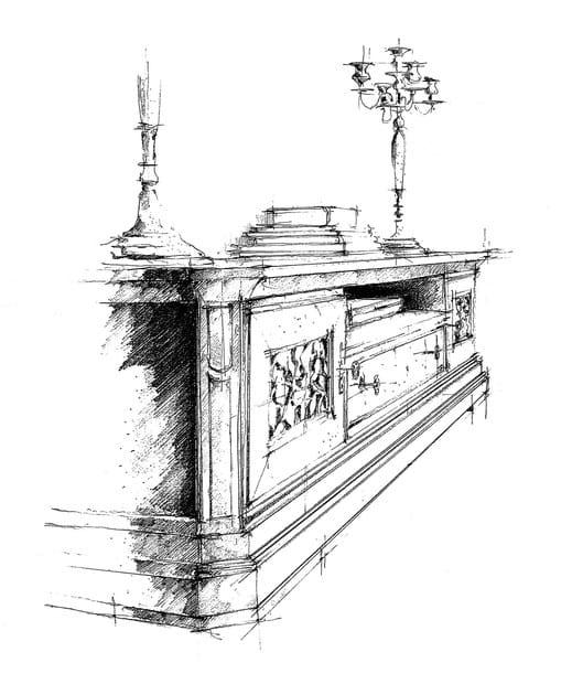 Tiffany meuble tv en noyer by dall agnese design imago design - Meuble tiffany ...