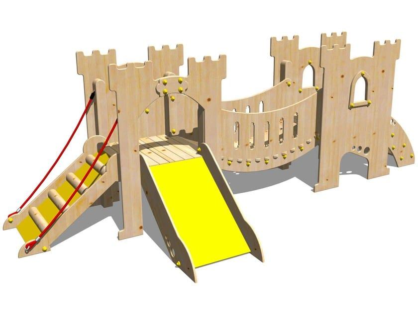 Wooden Play structure CASTELLO SALADINO - Legnolandia