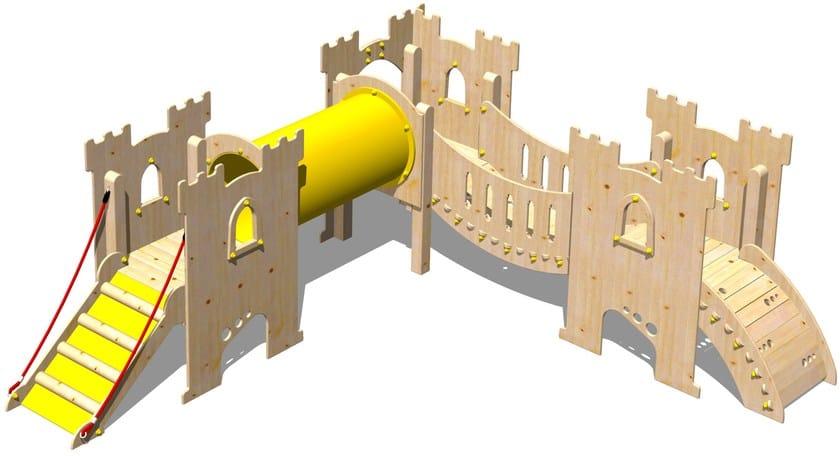 Wooden Play structure CASTELLO SIR-BIS - Legnolandia