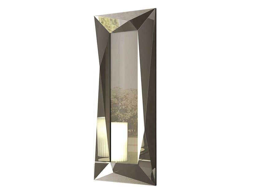 Rectangular wall-mounted framed mirror DIAMOND | Rectangular mirror - RIFLESSI