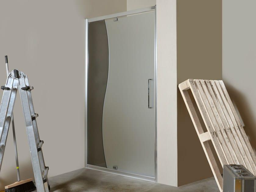 Niche glass shower cabin with hinged door MANOLIBERA | Niche shower cabin - MEGIUS