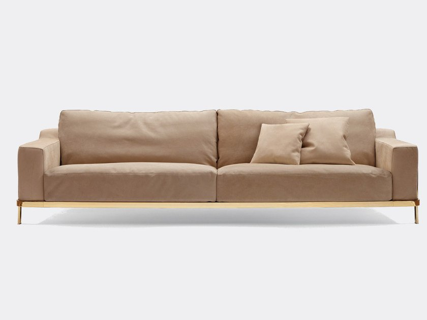 Leather sofa ODILON | Leather sofa - Nube Italia
