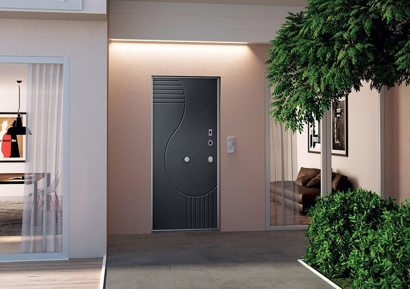 Porta d 39 ingresso blindata con serratura elettronica for Porte and a 3 ingressi
