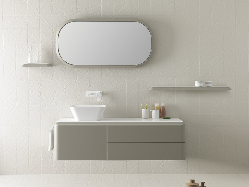Single wall-mounted vanity unit FLUENT | Vanity unit - INBANI