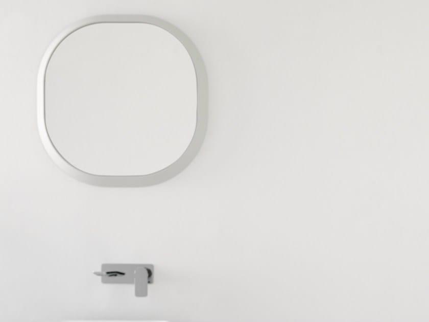 Framed bathroom mirror FLUENT | Round mirror - INBANI