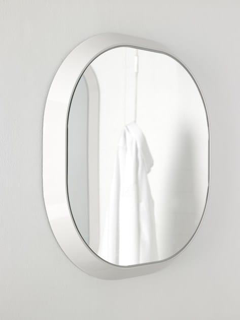Specchio con cornice per bagno fluent specchio rotondo - Specchio ovale per bagno ...