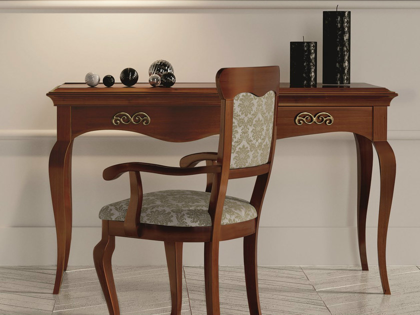 Lacquered walnut console table with drawers SYMFONIA   Walnut console table - Dall'Agnese