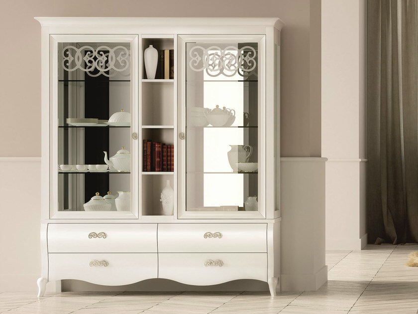 Lacquered display cabinet SYMFONIA | Lacquered display cabinet by Dall'Agnese