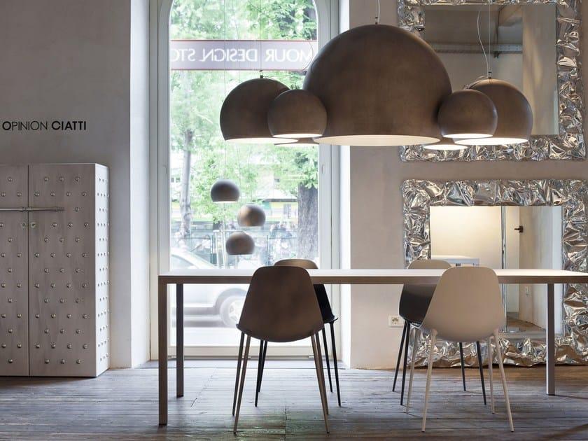 Direct light aluminium chandelier ILRE - Opinion Ciatti