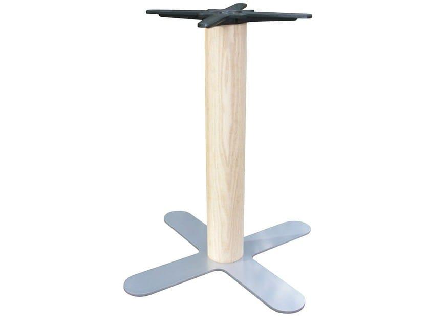Base per tavoli in ferro e legno petali 50x50 w by vela ...