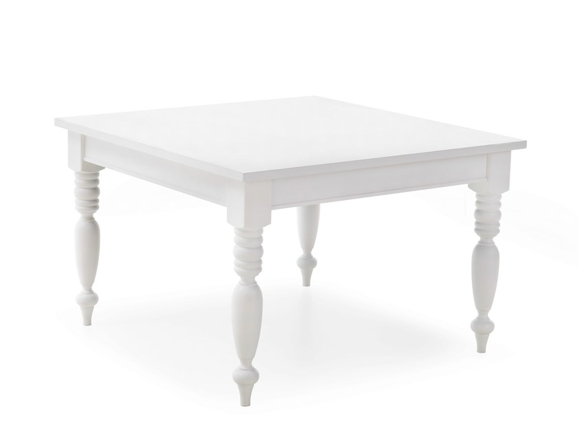 Square solid wood table TORCIGLIONE | Square table - Minacciolo