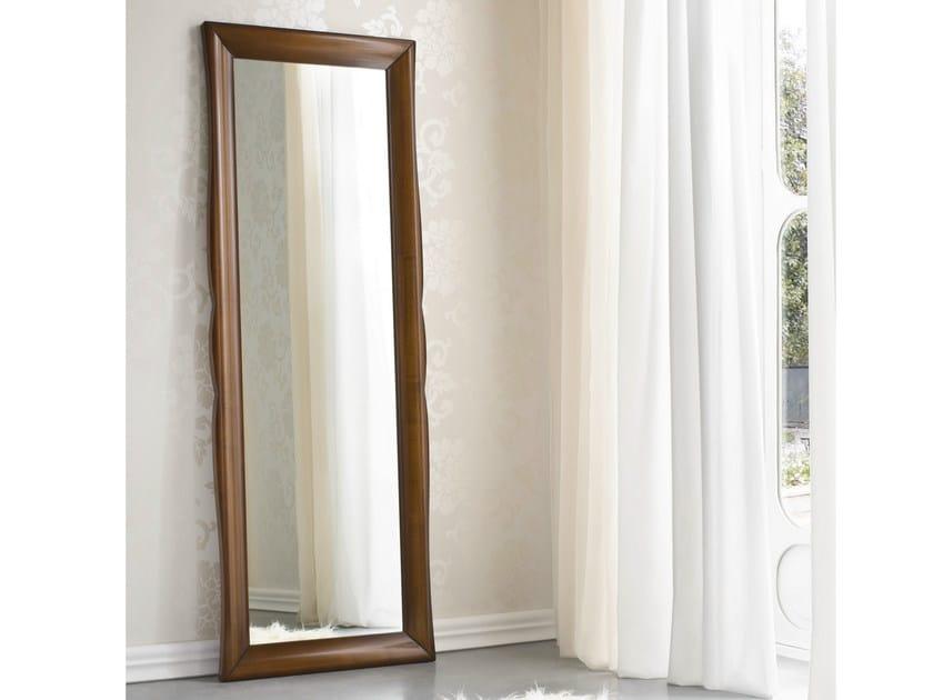 Rectangular framed walnut mirror SYMFONIA | Mirror - Dall'Agnese