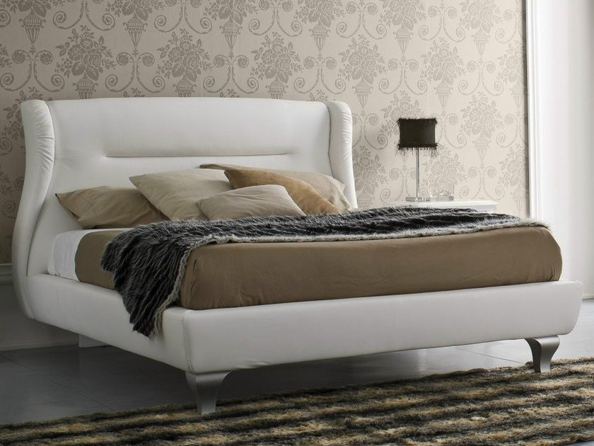 Upholstered fabric double bed SYMFONIA | Upholstered bed - Dall'Agnese