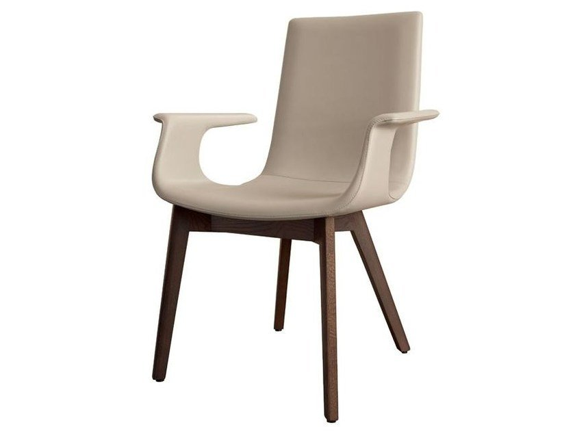 Leather chair with armrests D27 | Chair with armrests - Hülsta-Werke Hüls