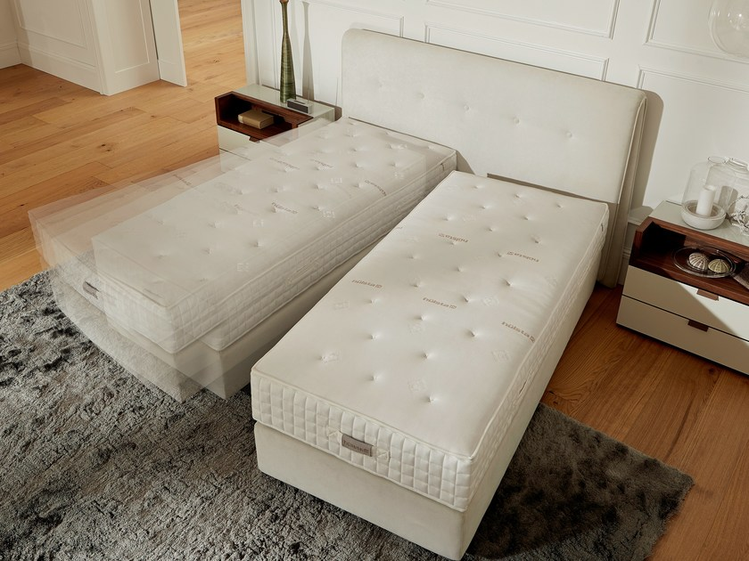 Swivel upholstered fabric bed BOXSPRING SUITE DELUXE | Swivel bed - Hülsta-Werke Hüls