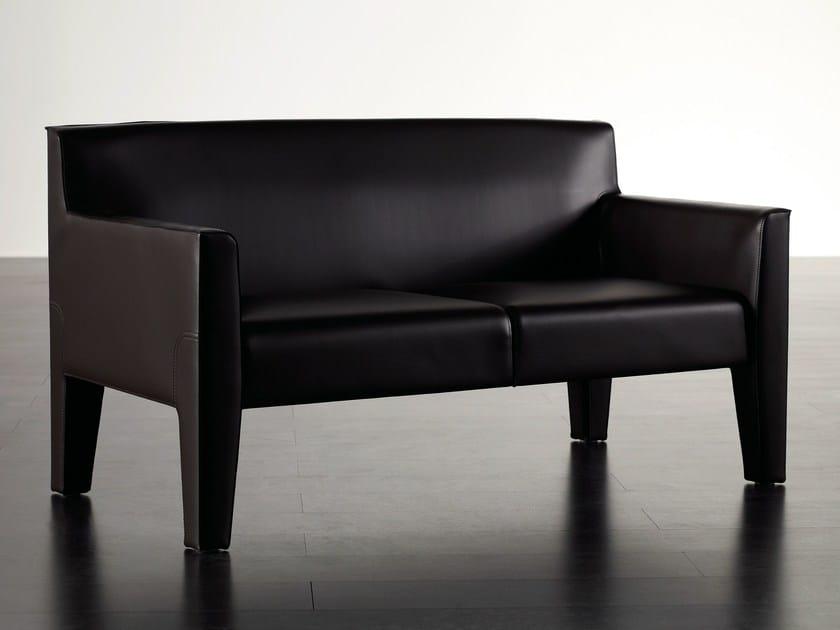 Tanned leather small sofa TATTOO | Small sofa - Meridiani