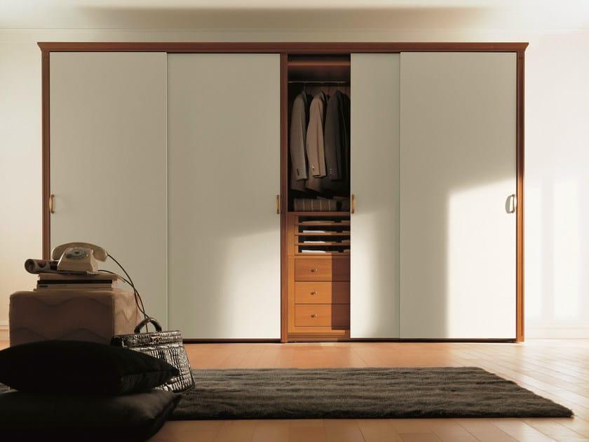 Wooden wardrobe with sliding doors UNICO   Wardrobe with sliding doors - Dall'Agnese