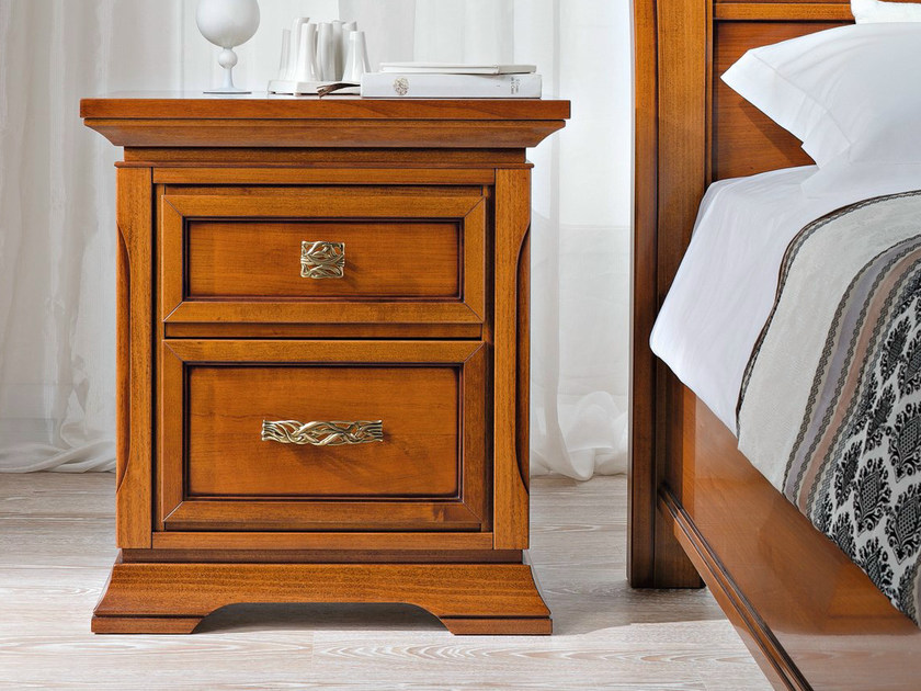Cherry wood bedside table with drawers BOHEMIA | Bedside table - Dall'Agnese